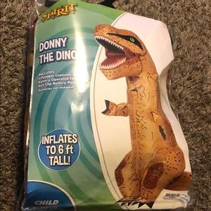 Kids dinosaurs inflatable costume